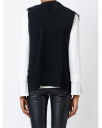 Ann Demeulemeester Blanche - Shearling Leather Gilet - Lyst