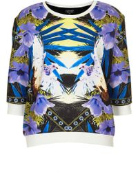 Topshop Tropical Doves Sweat - Lyst