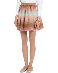 MSGM Cotton-blend Bouclã Mini Skirt - Lyst