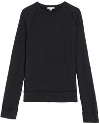 James Perse Baseball Sweatshirt - Lyst