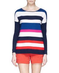 Diane von Furstenberg 'Jenia' Multi Stripe Cashmere Sweater - Lyst
