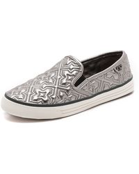 Tory Burch Jesse 2 Metallic Sneakers  Pewter Pewter Irish Charcoal - Lyst