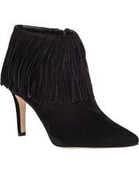 Sam Edelman | Kandice Fringed Ankle Boots | Lyst