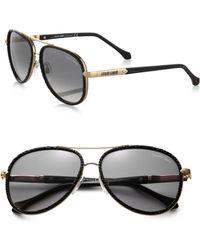 Roberto Cavalli Adhafera Pebbled Aviator Sunglasses - Lyst