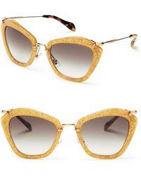 Miu Miu Glitter Noir Cat Eye Sunglasses - Lyst