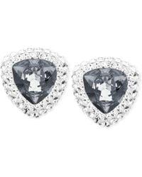 Swarovski Begin Palladium-plated Grey Crystal Stud Earrings - Lyst