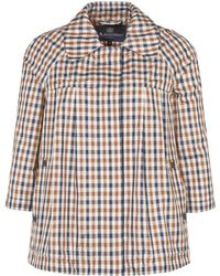Aquascutum Club Check Raglan Aline Jacket - Lyst