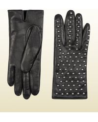 Gucci Women's Studded Leather Gloves - Lyst