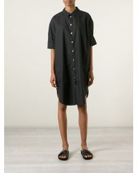 Acne Studios Lash Cotton Shirt Dress - Lyst
