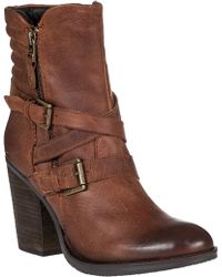 Steve Madden Raleighh Mid-Shaft Boot Cognac Leather brown - Lyst
