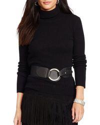 Lauren by Ralph Lauren - Wool & Cashmere Turtleneck Sweater - Lyst