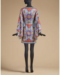 Dolce & Gabbana | Printed Silk Kimono Dress | Lyst
