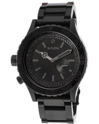 Nixon Mens 42-20 Tide Black Ip Steel and Dial - Lyst