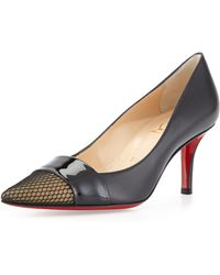 Christian Louboutin Gladiator Leather Red Sole Pump - Lyst