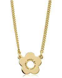 Marc By Marc Jacobs - Diamonds And Daisy Logo Pendant Necklace - Lyst
