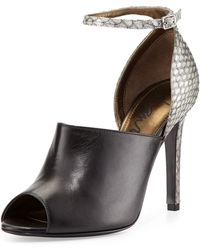 Lanvin Snake  Leather Glove Sandal - Lyst