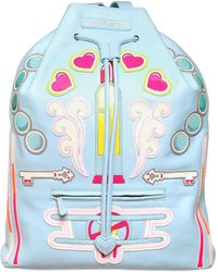 Manish Arora Faux Leather Appliqués Backpack - Lyst