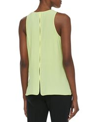 Alexander Wang Layered Georgette Sleeveless Tank - Lyst