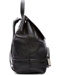 CoSTUME NATIONAL - Black Leather Backpack - Lyst