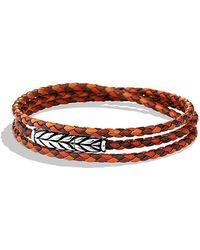 David Yurman Chevron Triple-wrap Bracelet - Lyst