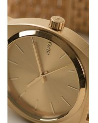 Nixon Gold Time Teller Watch - Lyst