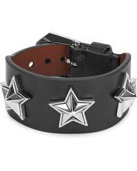 Givenchy - Black Star-studded Leather Bracelet - Lyst