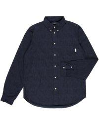 Paul Smith Navy Oddities Print Button-Down Collar Shirt blue - Lyst
