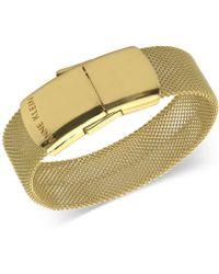Anne Klein - Gold-tone Hidden Usb Drive Mesh Bracelet - Lyst
