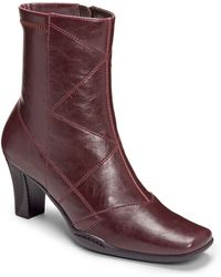 Aerosoles Cintercity Faux Leather Ankle Boots - Lyst