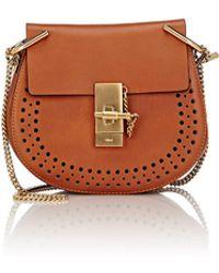 Chlo¨¦ Drew Bicolor Mini Shoulder Bag in Brown (beige-tan)   Lyst
