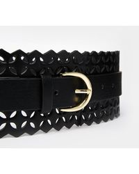 Asos Curve Waist Belt With Laser Cut - Lyst