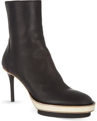Ann Demeulemeester Storm Heeled Ankle Boots - Lyst