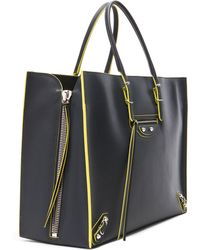 Balenciaga Papier Zip Around A4 Tote blue - Lyst
