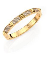 Michael Kors Brilliance Statement Studded PavÉ Bangle Bracelet/Goldtone - Lyst