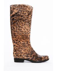 Missguided Kat Leopard Print Wellie - Lyst