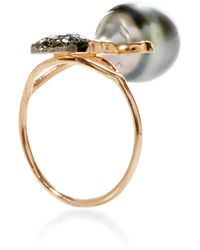Daniela Villegas Khepri Ring with South Sea Pearl and Black Diamond - Lyst