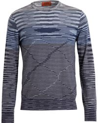 Missoni Stripped Wool Knit - Lyst
