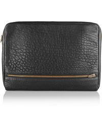 Alexander Wang Fumo Pebbled-leather Laptop Case - Lyst