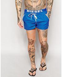 Diesel Double Waistband Swim Shorts - Lyst