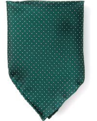 Mr Start Green Dot Pocket Square - Lyst