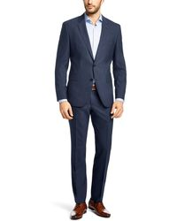 Hugo Boss Jets/Lenon | Regular Fit, Traveler Virgin Wool Suit - Lyst
