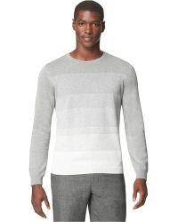 Calvin Klein End-On-End Striped Crew-Neck Sweater - Lyst