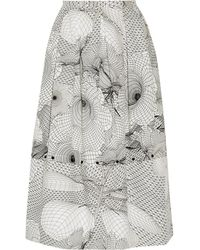 Christopher Kane Printed Double-layer Twill Skirt - Lyst