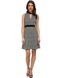 Karen Kane Knit Chevron Dress - Lyst