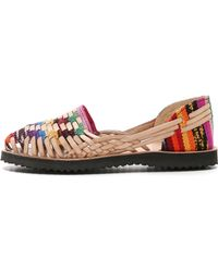 Ix Style - Woven Leather Huarache Flats - Lyst