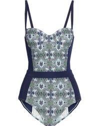 Tory Burch Laguna Printed Swimsuit - Lyst