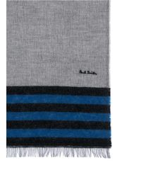 Paul Smith Colourblock Stripe Cashmere-Cotton Scarf - Lyst