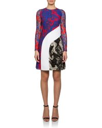 Carven Printed Lace Dress multicolor - Lyst