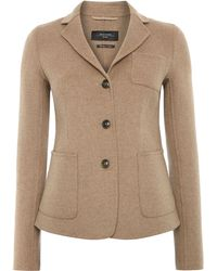 Max Mara Alca Double Faced Wool Blazer - Lyst