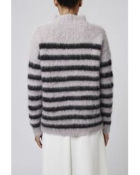 TOPSHOP - Stripe Knit Jumper By Boutique - Lyst